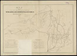 Map From New York To Boston by Map Exhibiting The Rail Road Canal Lake And River Routes From