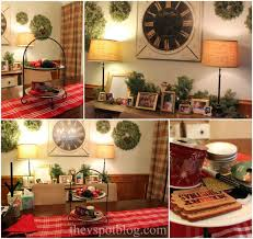 christmas home tour red and black holiday decor the v spot