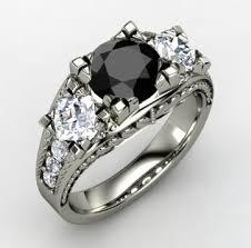 white and black diamond engagement rings the precious black diamond wedding rings for women rikof