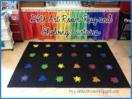 Classroom Rugs On Sale Mrs Smith U0027s Room New Blog Look Diy Art Room Rug And Plastic