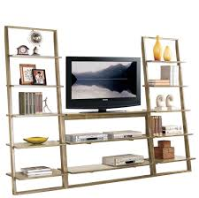 furniture interesting black iron leaning bookcase with tv desk