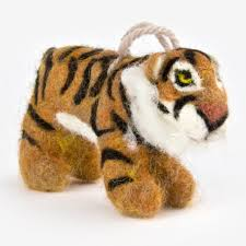 the au gres sheep factory needlefelt ornaments tiger fresh