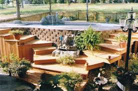 Backyard Above Ground Pools by Diy Above Ground Pool Deck Ground Pools Backyard And Decking