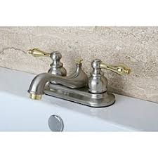 Brass Bathroom Faucet by Two Tone Chrome And Brass Bathroom Faucet Free Shipping Today