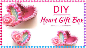 diy heart gift box for valentine u0027s day new gift decoration ideas