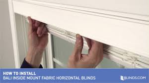 how to install bali fabric horizontal blinds inside mount