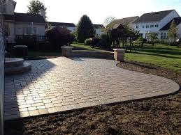 Simple Paver Patio Cement Patio Pavers Back Patio Ideas Interlocking Brick Pavers