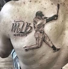 glow in the dark tattoos kansas city kansas city royals paulo orlando gets a back tattoo depicting his