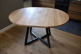 expandable round dining table extendable round table modern design steel and timber round