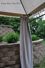 Gazebo Curtain Ideas by Gazebo Curtains U2013 No Sewing