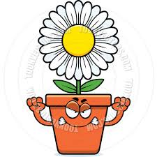 cartoon flowerpot angry by cory thoman toon vectors eps 64427