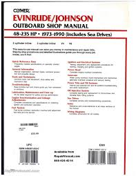 evinrude johnson 48 235 hp 1973 1990 outboard boat repair manual