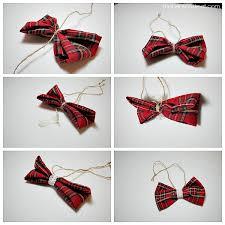 plaid bow ornament one artsy