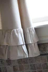 Curtains With Ruffles Diy Ruffle Drop Cloth Curtains Shanty 2 Chic