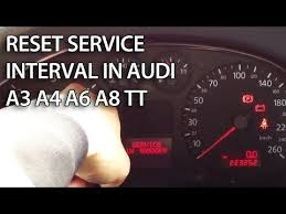 audi service interval reset how to reset service reminder in audi a6 c5 inspection