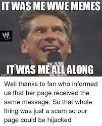 Thanks Meme - itwasme wwe memes it was meallalong imgflipcom well thanks to fan