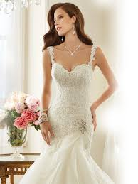 organza a line wedding dress with dropped waist