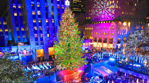 rockefeller center tree lit to kick season nbc new