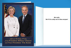 funny new u201cofficial president hillary u201d greeting cards at cardfool