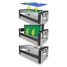 3 in 1 air hockey table 7 foot 3 in 1 swivel game table