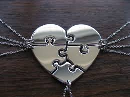 heart puzzle necklace images 56 3 piece heart puzzle necklace three piece sterling silver jpg