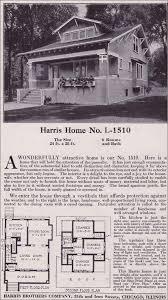 chicago bungalow house plans plan l 1510 1918 harris bros co craftsman style bungalow