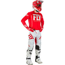 motocross riding gear combos fly racing 2018 lite red grey gear combo at mxstore