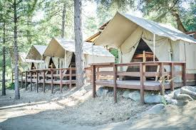 Tent Cabin by Glamping Near Sacramento California Whitewater Rafting Sacramento