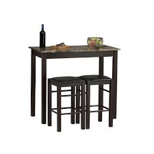 bar stool table set of 2 tavern 3 pc counter height dining set espresso table 2 stools