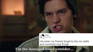 Weird Smile Meme - jughead s i m weird speech got turned into a meme and it s
