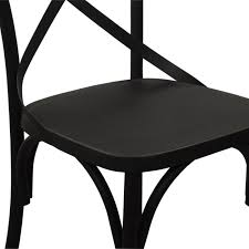 Black Metal Bistro Chairs Sapphire Bistro Chair Black Industrial Chic Style Furniture