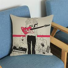 Guitar Home Decor Compare Prices On Guitar Cushion Covers Online Shopping Buy Low