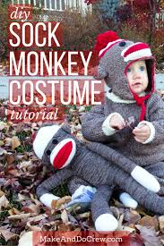 Halloween Costumes Monkey Tutorial Baby Knit Sock Monkey Halloween Costume