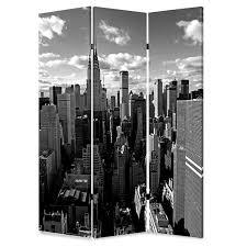 New York Room Divider Screen Gems 72 X 48 New York Skyline 3 Panel Room Divider