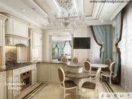rococo interior design style modern rococo design of the kitchen with stucco ceiling and marble floor