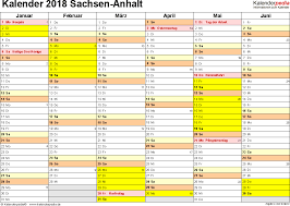 Kalender 2018 Hamburg Excel Kalender 2018 Sachsen Anhalt Ferien Feiertage Excel Vorlagen