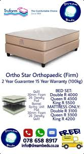 free delivery ortho star orthopaedic double bed mattress strand