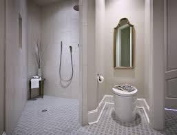 Bathroom Baseboard Ideas Handicap Accessible Shower Bathroom Contemporary With Baseboards