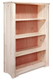 Timber Bookcases Homestead Timber Frame Bookcase With Adjustable Shelves Stained
