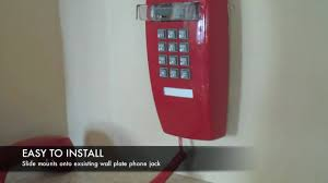 Old Fashioned Wall Mounted Phones Cortelco 2554 Red Corded Wall Phone Installation From Smithgear