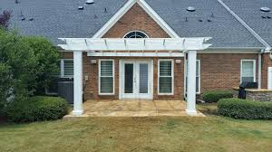 Pergola Rafter Tails by Arbors Direct Fiberglass Square Column Pergola Attached To House