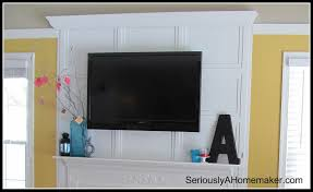 tv over fireplace where to put cable box good love the way the tv