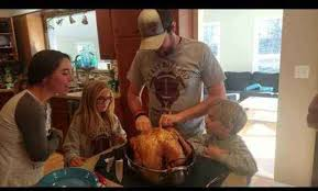 family pranks on thanksgiving with one news page