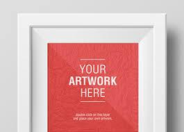 design templates photography free photo frame mockups artwork frame psd mockups graphicburger