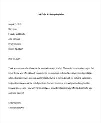 sle letter how to write decline offer letter allponno