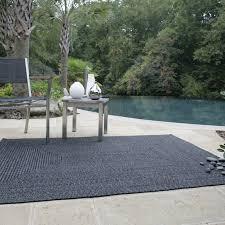 Durable Outdoor Rug Homespice Decor Ultra Durable Black Indoor Outdoor Rug Reviews