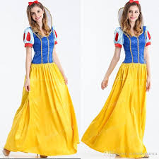 White Dress Halloween Costume Women Princess Snow White Cosplay Costume Halloween Carnival Party