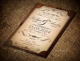 vintage style wedding invitations 23 vintage wedding invitation free psd format free