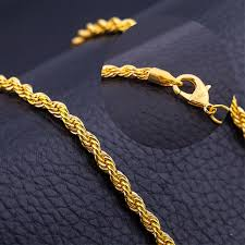 make gold chain bracelet images Men antique gold chains vintage men twisted rope necklace chain jpg