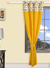 Yellow Curtain Buy Swayam Eyelet Yellow Curtain India Best Prices